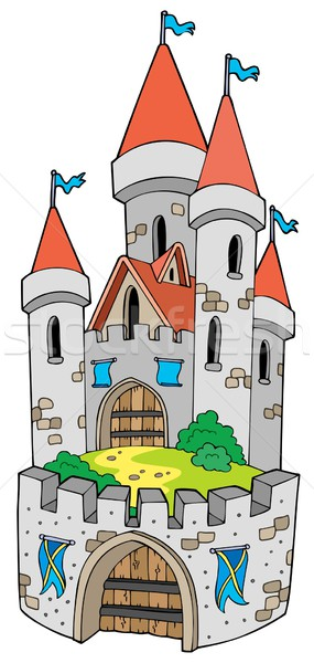 Photo stock: Cartoon · château · fortification · maison · art · pavillon