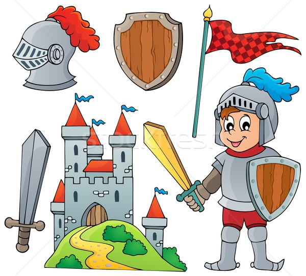Knight theme collection 1 Stock photo © clairev