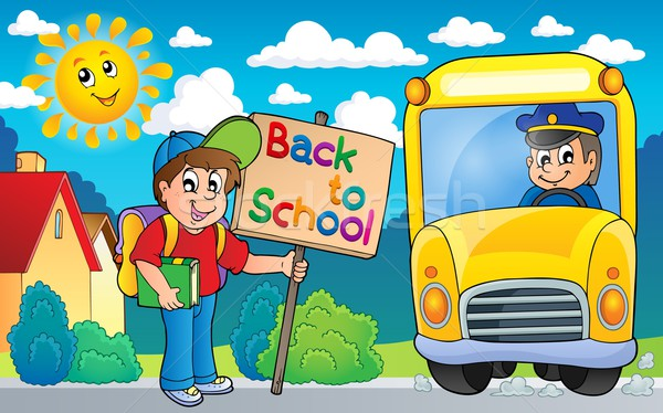 Image with school bus topic 6 Stock photo © clairev