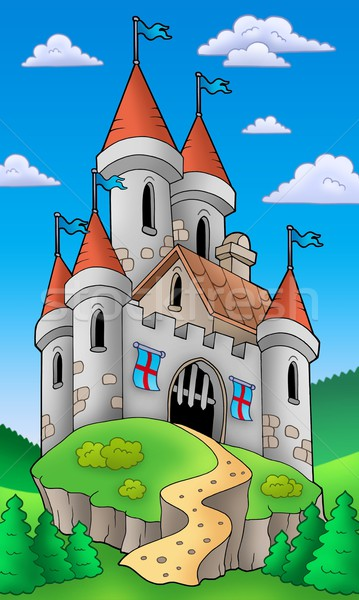 Medieval castle on hill Stock photo © clairev