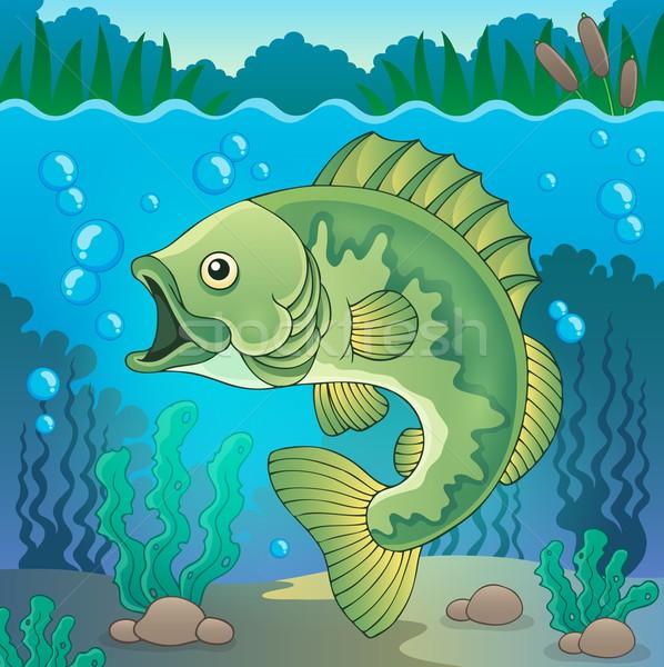 De agua dulce peces tema imagen naturaleza arte Foto stock © clairev