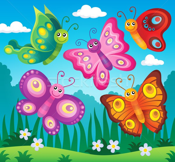 Happy butterflies theme image 2 Stock photo © clairev