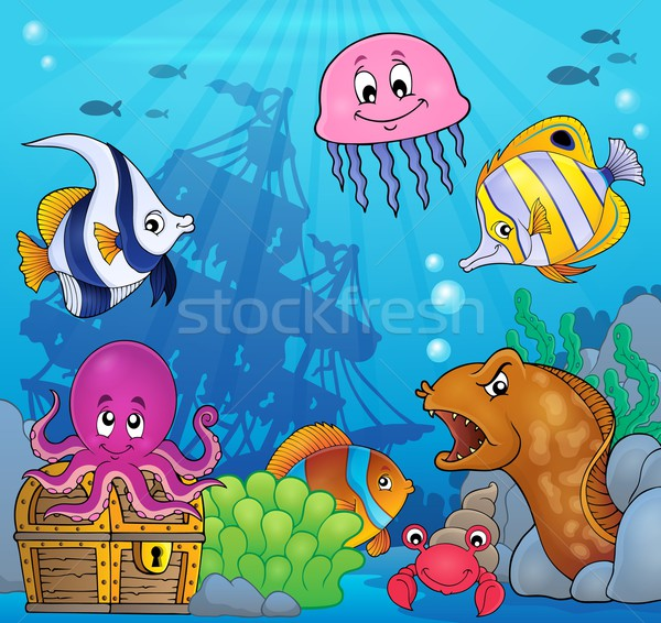 Underwater ocean fauna theme 8 Stock photo © clairev