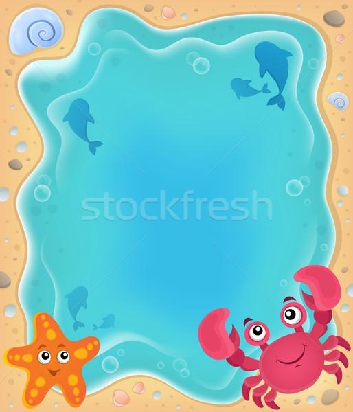 пляж тема изображение воды улыбка рыбы Сток-фото © clairev