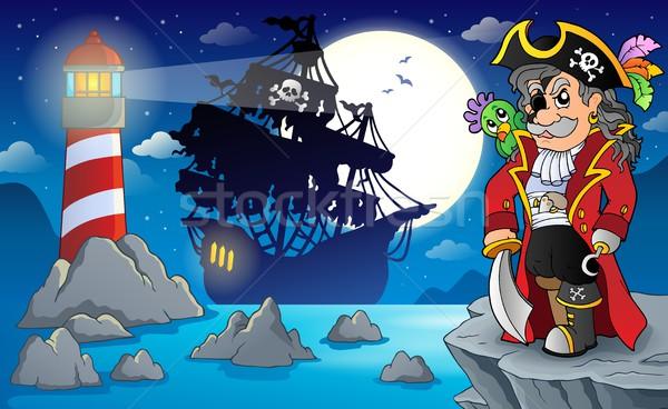 Night pirate scenery 3 Stock photo © clairev