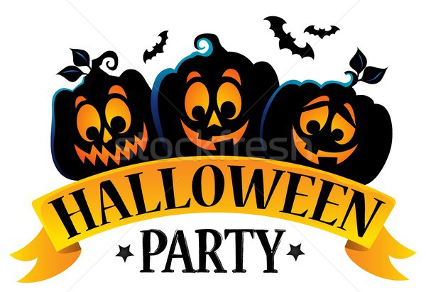 Halloween party sign theme image 1 Stock photo © clairev