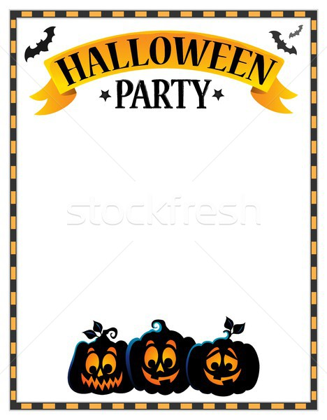 Halloween party sign theme image 3 Stock photo © clairev