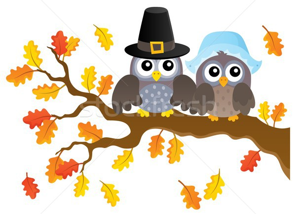 Thanksgiving owls thematic image 1 Stock photo © clairev