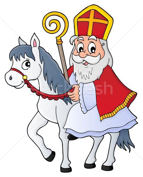 Sinterklaas on horse theme image 1 Stock photo © clairev