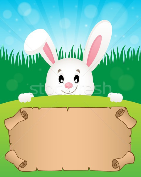 Parchment and Easter bunny theme 1 Stock photo © clairev