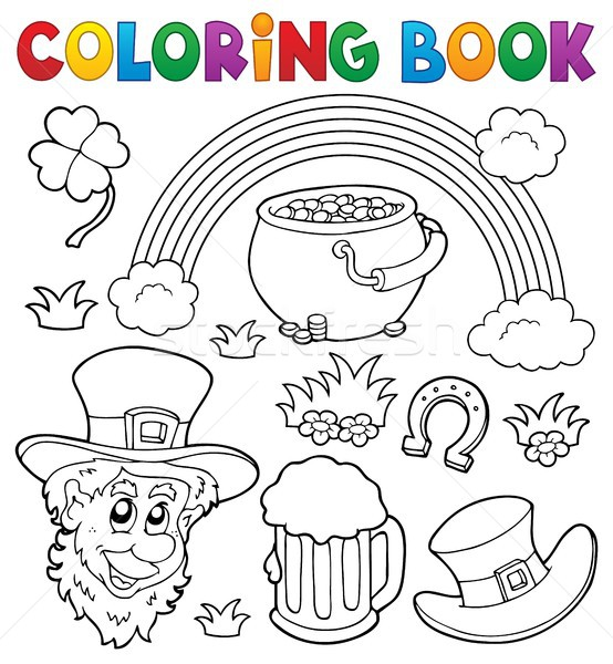 Coloring book St Patricks Day theme 1 Stock photo © clairev