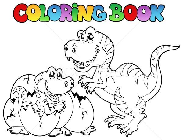 Stock fotó: Kifestőkönyv · mosoly · könyv · terv · festék · állatok
