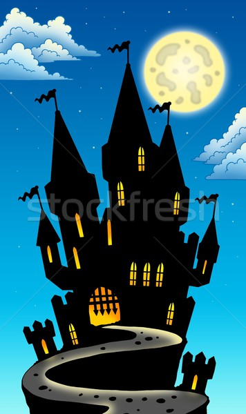 Night view on castle on hill Stock photo © clairev