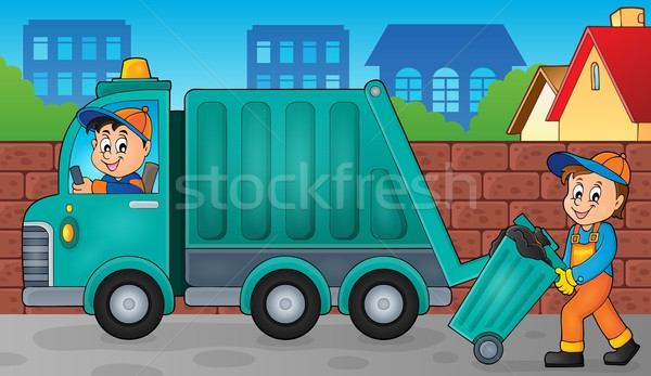 Garbage collector theme image 3 Stock photo © clairev