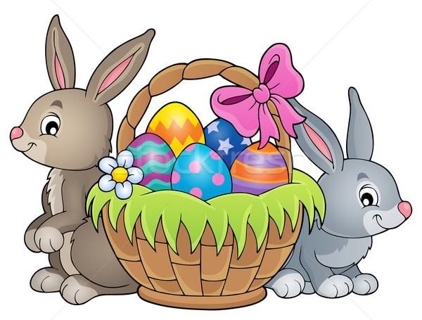 Easter basket theme image 3 Stock photo © clairev
