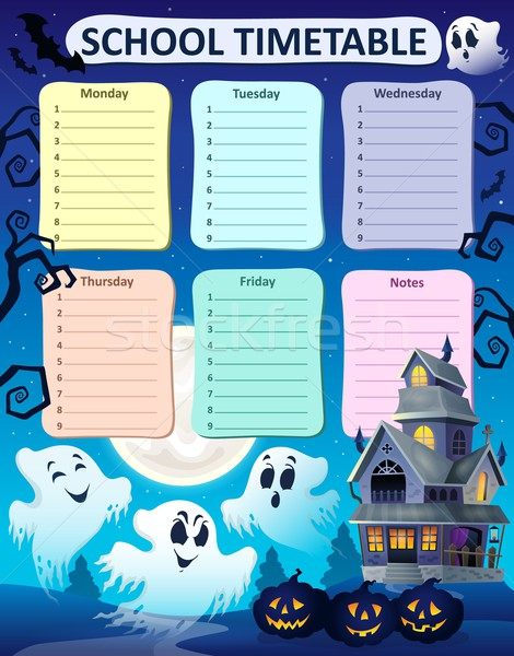 Weekly school timetable composition 9 Stock photo © clairev