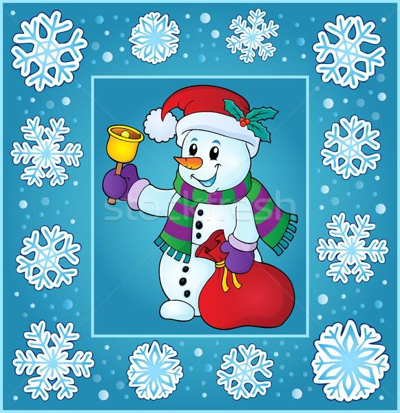 Natal tópico cartão saco anel apresentar Foto stock © clairev