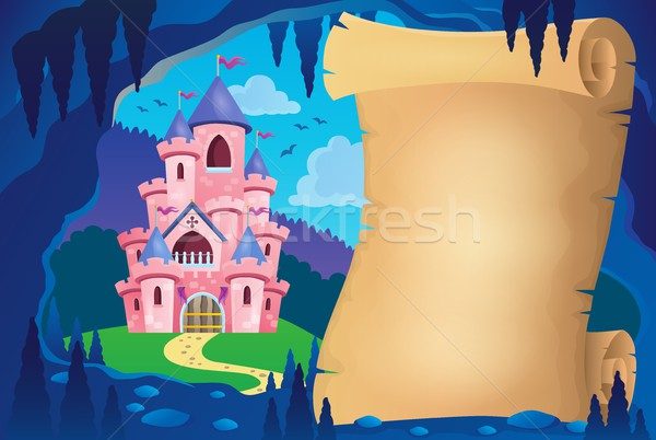 Parchment in fairy tale cave image 2 Stock photo © clairev