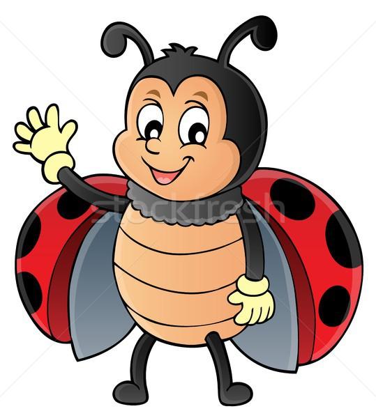 Uğur böceği görüntü doğa sanat yaz Stok fotoğraf © clairev