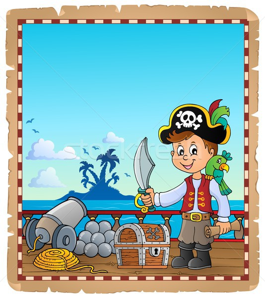 Pirate boy topic parchment 1 Stock photo © clairev