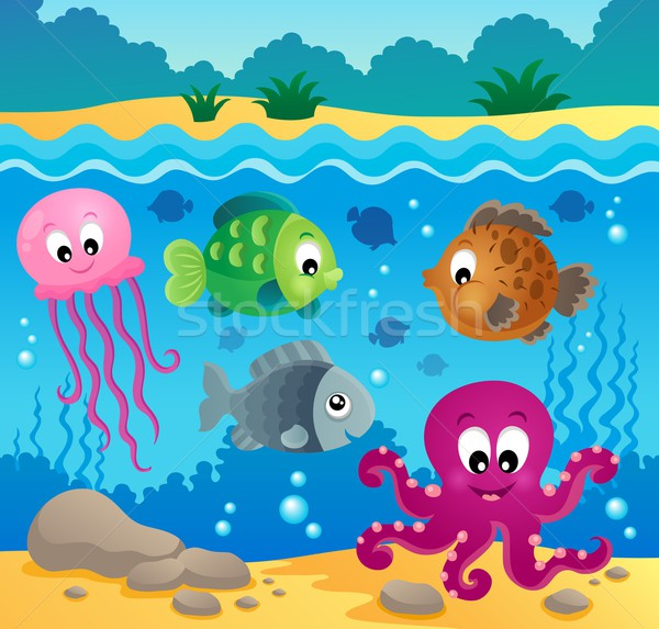 Underwater ocean fauna theme 1 Stock photo © clairev