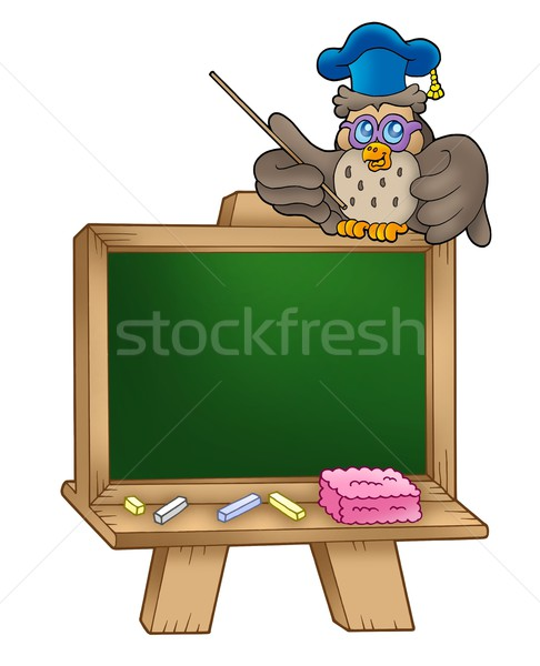 Owl lector in school Stock photo © clairev