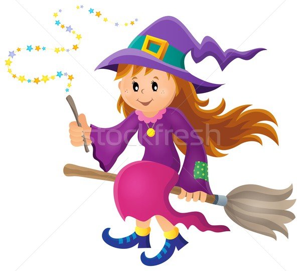Stock photo: Cute witch theme image 1