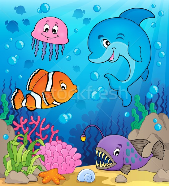 Ocean fauna topic image 1 Stock photo © clairev