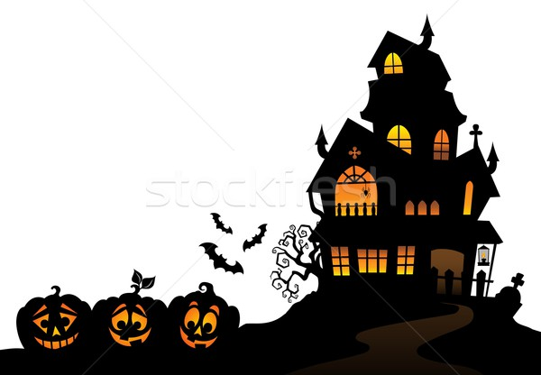Haunted house silhouette theme image 4 Stock photo © clairev