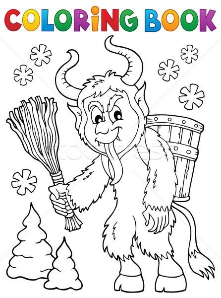Boyama Kitabı Kitap Sanat Kış Sepet çizim Vektör