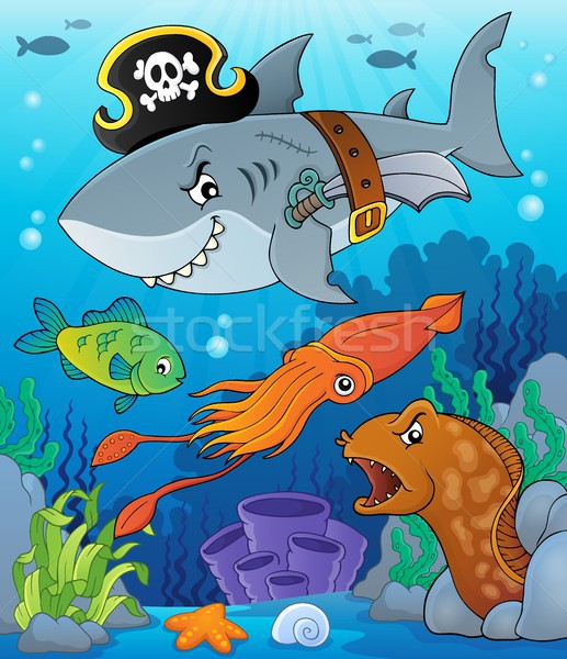 Pirate shark topic image 7 Stock photo © clairev