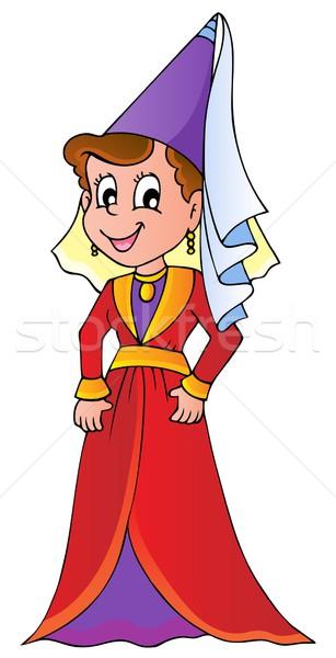 Medieval senhora imagem mulheres projeto feminino Foto stock © clairev