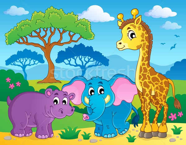 Cute African animals theme image 1 Stock photo © clairev