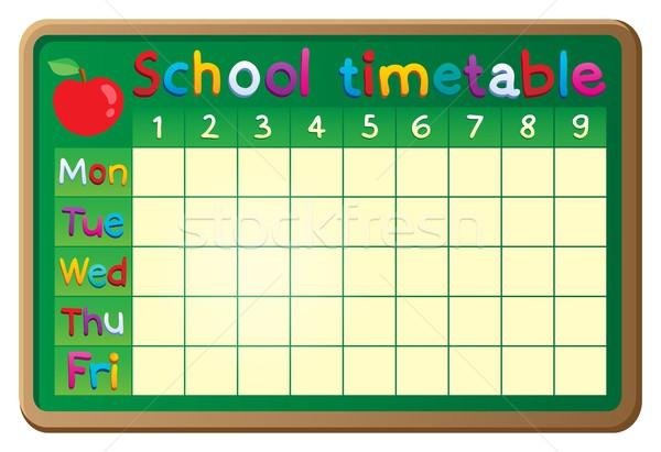 Escolas horário imagem projeto arte tabela Foto stock © clairev