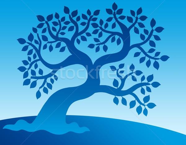 Blue leafy tree Stock photo © clairev