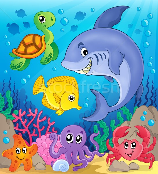Underwater ocean fauna theme 6 Stock photo © clairev