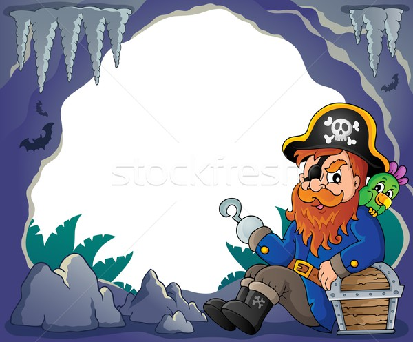 Sitting pirate theme image 4 Stock photo © clairev