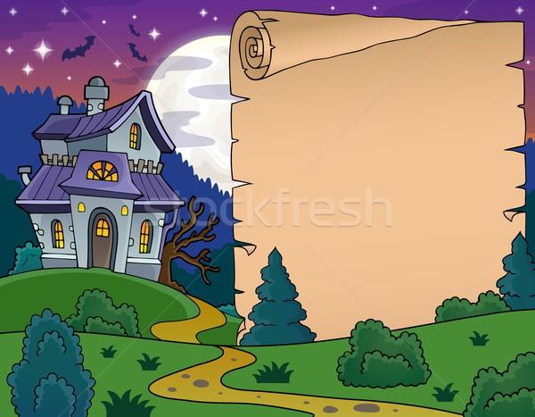 Pergamen kisértetjárta ház fény terv árnyék Stock fotó © clairev