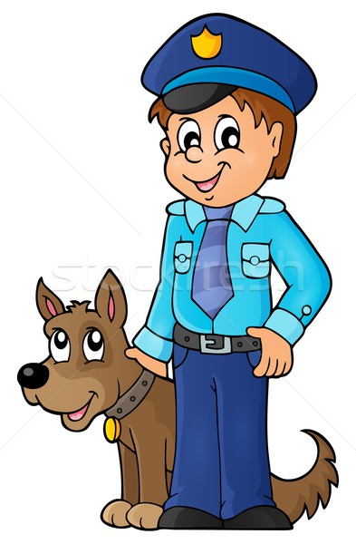 Policeman with guard dog image 1 Stock photo © clairev