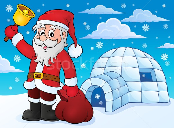 Igloo with Santa Claus theme 3 Stock photo © clairev