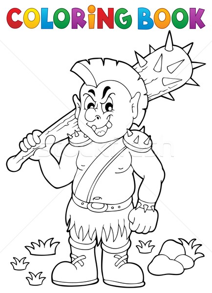 Coloring book orc theme 1 Stock photo © clairev
