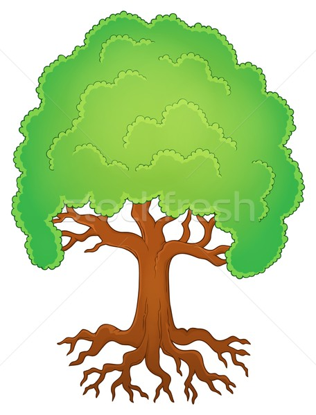 Tree with roots theme image 1 Stock photo © clairev