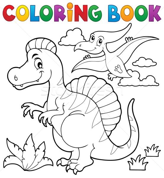 Coloring book dinosaur theme 2 Stock photo © clairev