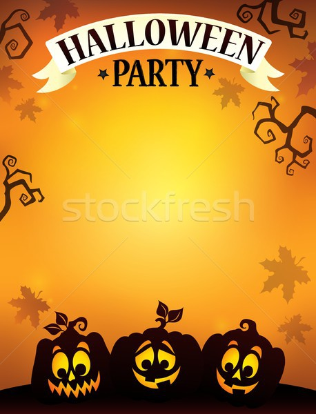 Halloween party sign theme image 9 Stock photo © clairev