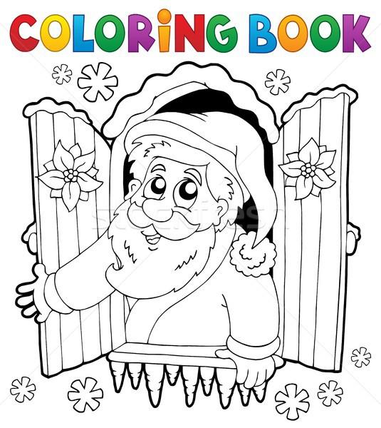 stock photo stock vector illustration coloring book santa claus thematics 5 eps10 vector illustration - Coloring Book Santa Claus