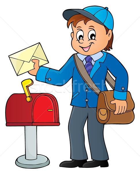 почтальон тема изображение бизнеса счастливым работу Сток-фото © clairev