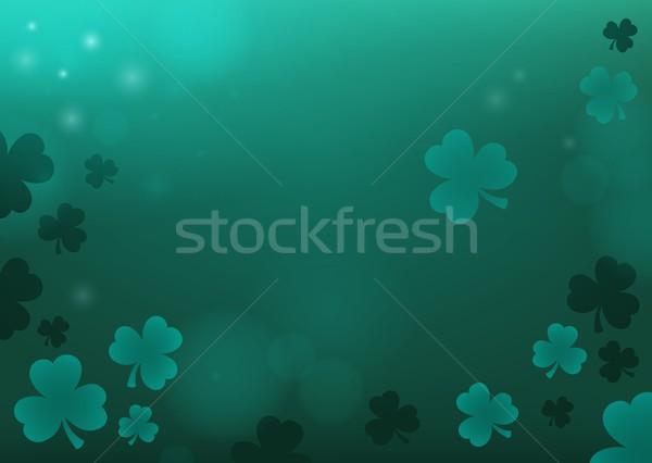Trois feuille trèfle résumé nature fond Photo stock © clairev