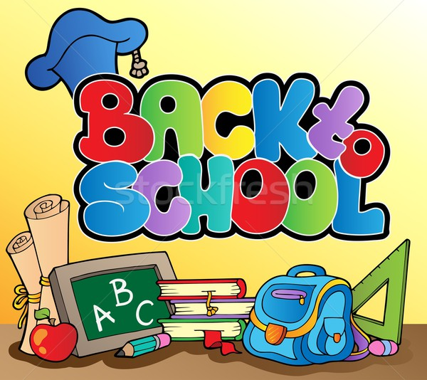 Back to school topic 1 Stock photo © clairev