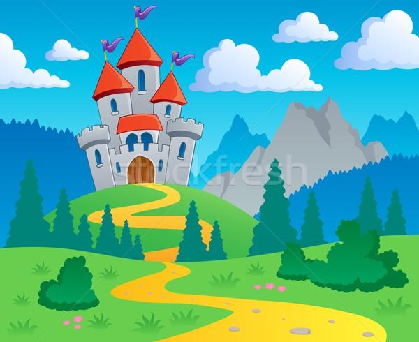 Castle theme landscape 1 Stock photo © clairev