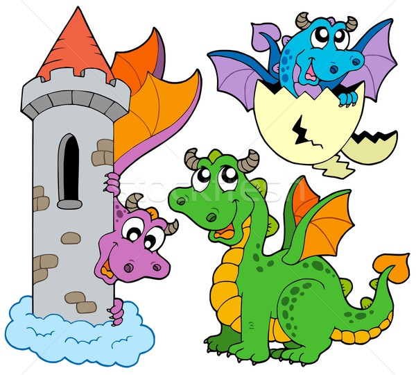 Cute dragons collection Stock photo © clairev